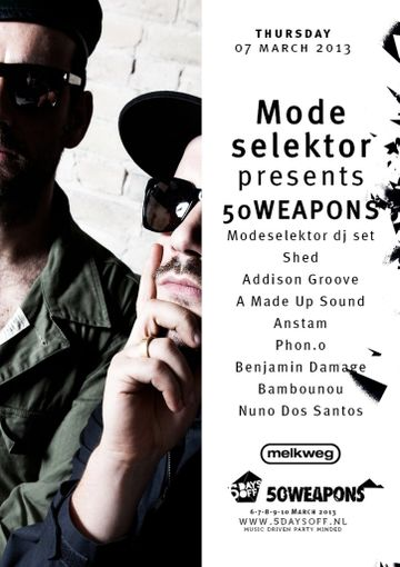 2013-03-07 - Modeselektor Presents 50 Weapons, 5 Days Off, Melkweg.jpg