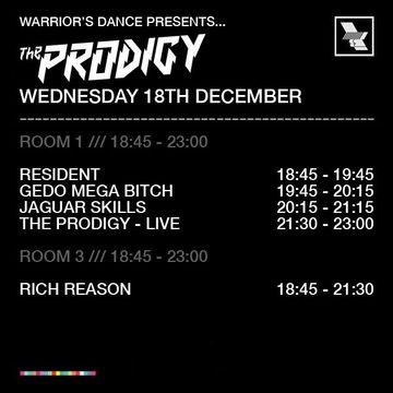 2013-12-18 - Warrior's Dance, The Warehouse Project, Timetable.jpg