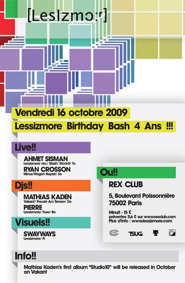 2009-10-16 - 4 Years Lessizmore, Rex Club.jpg