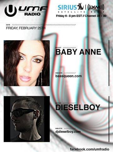 2011-02-25 - Dieselboy, Baby Anne - UMF Radio 094.jpg