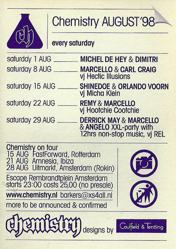 1998-08 - Chemistry, Escape, Amsterdam.jpg