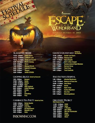 2012-10-27 - Escape From Wonderland, Lineup.jpg