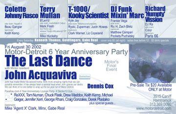 2002 - The Last Dance, Motor, Detroit-Back.jpg