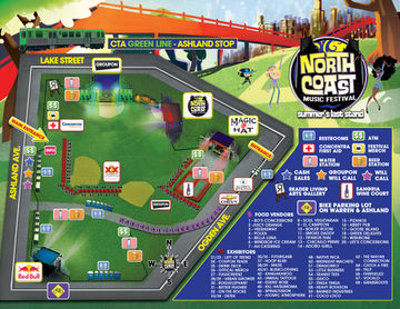 2011-09-0X - North Coast Music Festival, Festival Map.jpg