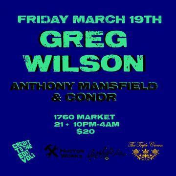 2010-03-19 - Greg Wilson @ Credit To The Edit Vol.2, Triple Crown -2.jpg