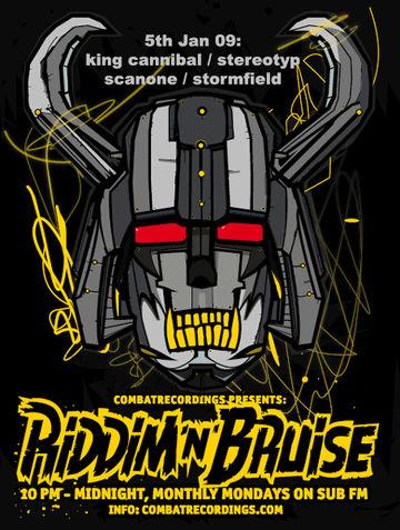 2009-01-05 - King Cannibal - Riddim'N'Bruise Mix.jpg