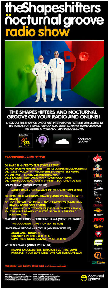 2011-08-03 - The Shapeshifters, Gramophonedzie (Cafe Del Monko) - Nocturnal Groove Radio Show 17.jpg