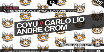 2014-0X - Suara - Kitties Wanna Dance! (Pre-Party), Hotel Santos.png