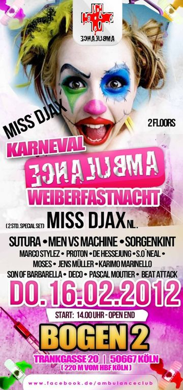 2012-02-16 - Karneval Ambulance Weiberfastnacht, Ambulance.jpg