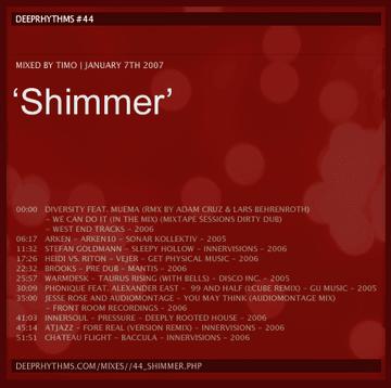 2007-01-07 - Timo - Shimmer - Deeprhythms Resident Mix 44.png
