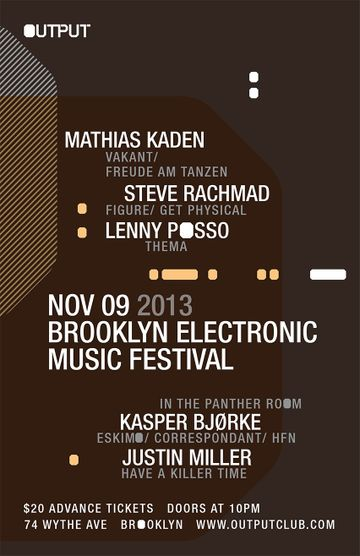 2013-11-09 - Brooklyn Electronic Music Festival, Output.jpg