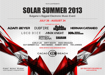 2013 - Solar Summer 2013, Cacao Beach.png