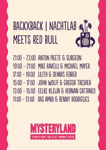2012-08-25 - Mysteryland, BACK x BACK Nachtlab meets Redbull, Timetable.jpg