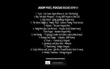 2012-10-31 - Joop - The Halloween Edition (Focus 11), Tracklist.jpg