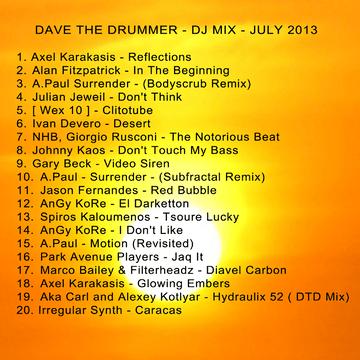 2013-07-13 - Dave The Drummer - July Heatwave Mix.png