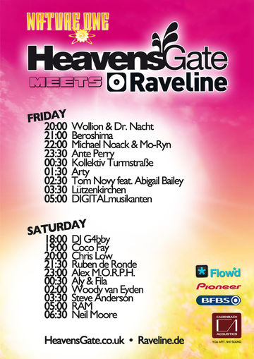 2011-08-0X - Nature One - HeavensGate - Lineup.jpg