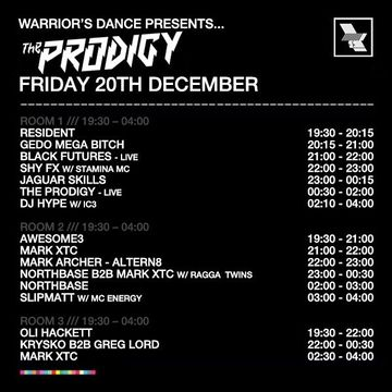 2013-12-20 - Warrior's Dance, The Warehouse Project, Timetable.jpg