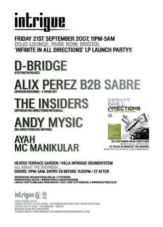 2007-09-21 - Alix Perez B2B Sabre & MC Manikular @ Intrigue, Dojo Lounge, Bristol back.jpg