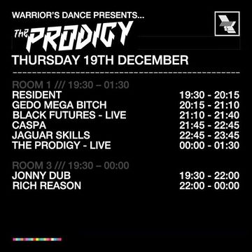 2013-12-19 - Warrior's Dance, The Warehouse Project, Timetable.jpg