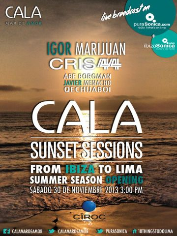 2013-11-30 - Cala Sunset Sessions - 'From Ibiza To Lima' Opening Session, Cala.jpg