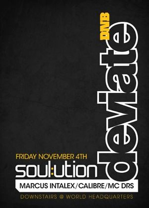 2011-11-04 - Deviate Soulution, World Headquarters, Newcastle - Front.jpg
