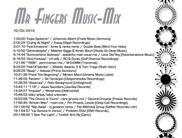 2013-10-03 - Mr. Fingers - Music Mix, Tracklist.jpg