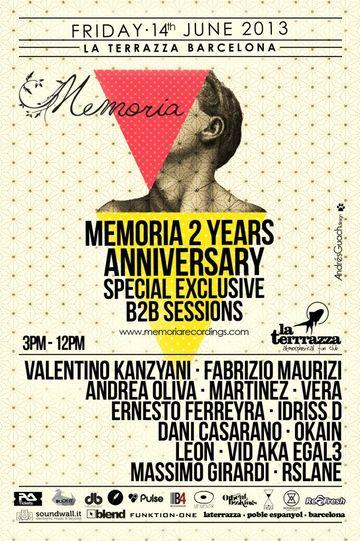 2013-06-14 - Martinez b2b Andrea Oliva @ 2 Years Memoria, La ...